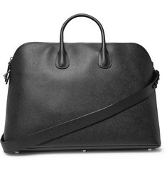Valextra - My Logo Pebble-Grain Leather Holdall