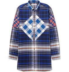 Givenchy Columbian-Fit Button-Down Collar Checked Cotton-Twill Shirt