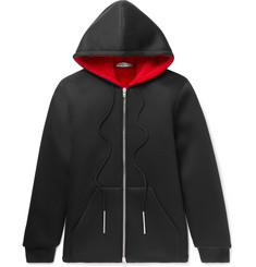 Givenchy Slim-Fit Faux Shearling-Trimmed Neoprene Zip-Up Hoodie