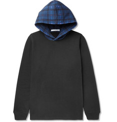 Givenchy - Cuban-Fit Check-Trimmed Fleece-Back Cotton-Jersey Sweatshirt