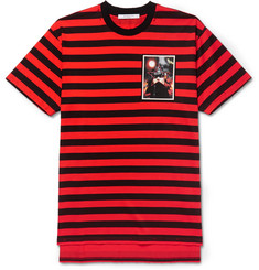 Givenchy Columbian-Fit Distressed Printed Striped Cotton-Jersey T-Shirt