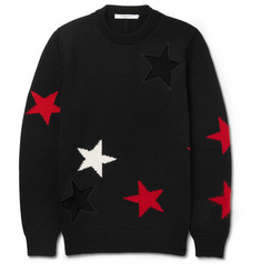 Givenchy - Cutout Intarsia Wool Sweater
