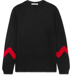 Givenchy - Panelled Fleece-Back Cotton-Blend Jersey Sweatshirt