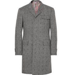 Thom Browne Embroidered Herringbone Wool Coat