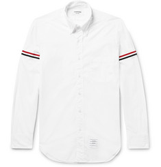 Thom Browne Slim-Fit Grosgrain-Trimmed Cotton-Poplin Shirt