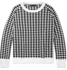Haider Ackermann Oversized Houndstooth Wool Sweater