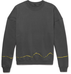 Haider Ackermann Perth Embroidered Loopback Cotton-Jersey Sweatshirt