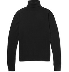 Haider Ackermann Elbow-Patch Wool and Cashmere-Blend Rollneck Sweater