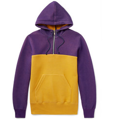 Sacai Two-Tone Cotton-Blend Jersey Hoodie