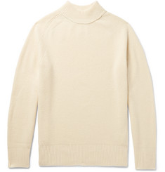Sacai Mock-Neck Ribbed Wool Sweater