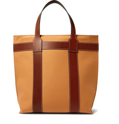 Loewe - Leather-Trimmed Canvas Tote Bag