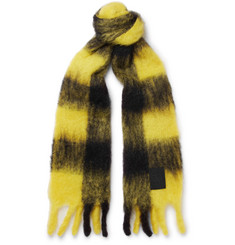 Loewe Checked Mohair and Wool-Blend Scarf