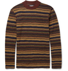 Maison Margiela Slim-Fit Striped Boiled Wool Sweater