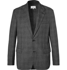 Maison Margiela Grey Prince of Wales Checked Woven Suit Jacket
