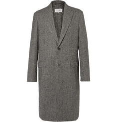 Maison Margiela Houndstooth Wool-Blend Coat
