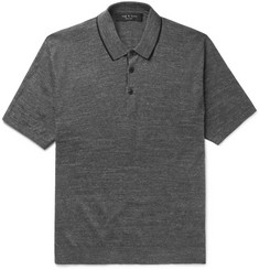 rag & bone Lucas Contrast-Tipped Knitted Cotton Polo Shirt