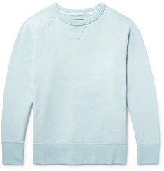 rag & bone Racer Loopback Stretch-Cotton Jersey Sweatshirt