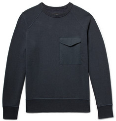 rag & bone Aviator Loopback Cotton-Jersey Sweatshirt