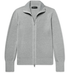 rag & bone Harrison Ribbed-Knit Zip-Up Cardigan