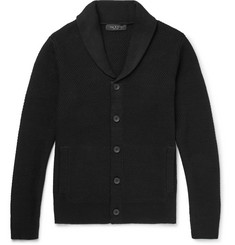rag & bone - Cardiff Shawl-Collar Textured-Knit Wool and Cotton-Blend Cardigan