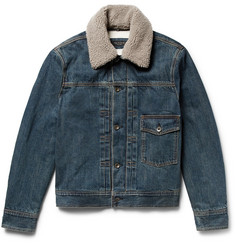rag & bone - Bartack Shearling-Lined Denim Jacket