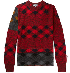 Lanvin Distressed Intarsia Wool Sweater