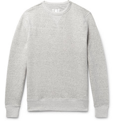 The Workers Club - Mélange Fleece-Back Stretch-Cotton Jersey Sweatshirt