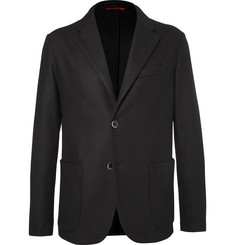 Barena Black Slim-Fit Unstructured Wool-Blend Blazer