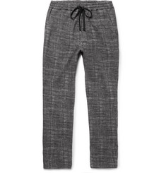Barena - Mélange Checked Woven Drawstring Trousers