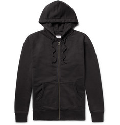 Saturdays NYC JP Fleece-Back Cotton-Jersey Zip-Up Hoodie