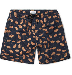 Saturdays NYC Timothy Ginkgo Mid-Length Printed Swim Shorts