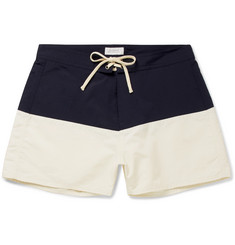 Saturdays NYC - Ennis Short-Length Colour-Block Swim Shorts