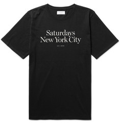 Saturdays NYC Miller Standard Printed Cotton-Jersey T-Shirt