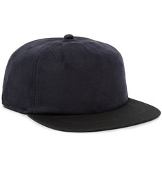 Saturdays NYC Stanley Two-Tone Faux Suede and Twill Baseball Cap