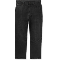 Stella McCartney Slim-Fit Cropped Panelled Denim Jeans