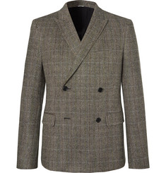 Stella McCartney - Brown Herringbone Wool-Blend Tweed Double-Breasted Suit Jacket