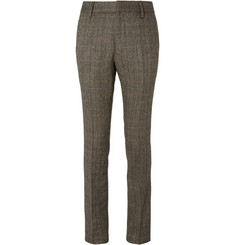 Stella McCartney Brown Slim-Fit Herringbone Wool-Blend Tweed Suit Trousers