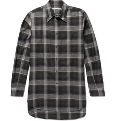 Stella McCartney Oversized Checked Herringbone Cotton-Blend Shirt