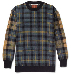 Stella McCartney Oversized Checked Virgin Wool Sweater