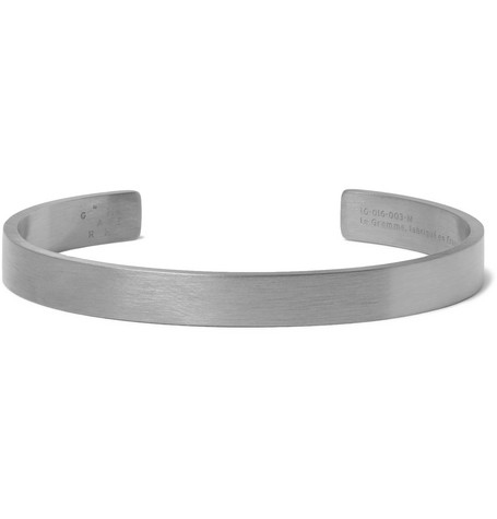 Le Gramme Le 21 Brushed Sterling Silver Cuff - Silver n9bEt