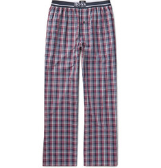 Hugo Boss - Checked Cotton-Poplin Pyjama Trousers