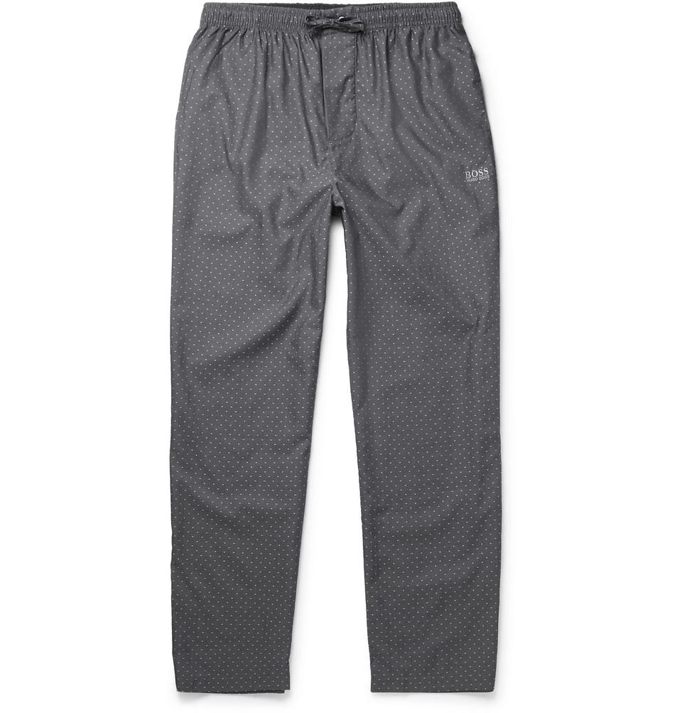 Polka-dot Cotton Pyjama Trousers - Blue
