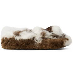 Prada Two-Tone Shearling Tasselled Loafers