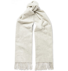 Acne Studios Canada Narrow Fringed Mélange Virgin Wool Scarf