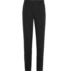 Issey Miyake Men Crinkled Wool-Blend Trousers