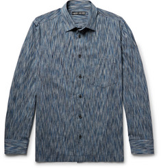 Issey Miyake Men Patterned Cotton-Blend Shirt