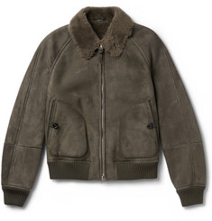 TOM FORD - Shearling Bomber Jacket