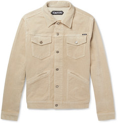 TOM FORD Stretch-Cotton Corduroy Trucker Jacket