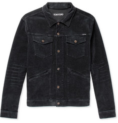 TOM FORD - Stretch-Cotton Corduroy Trucker Jacket