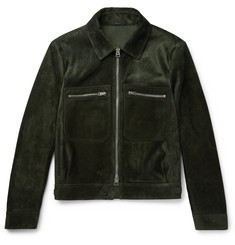 TOM FORD - Suede Blouson Jacket